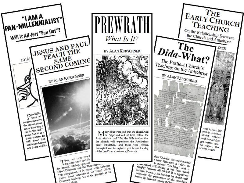 Give Prewrath Pamphlets to Your Pretrib Friends!