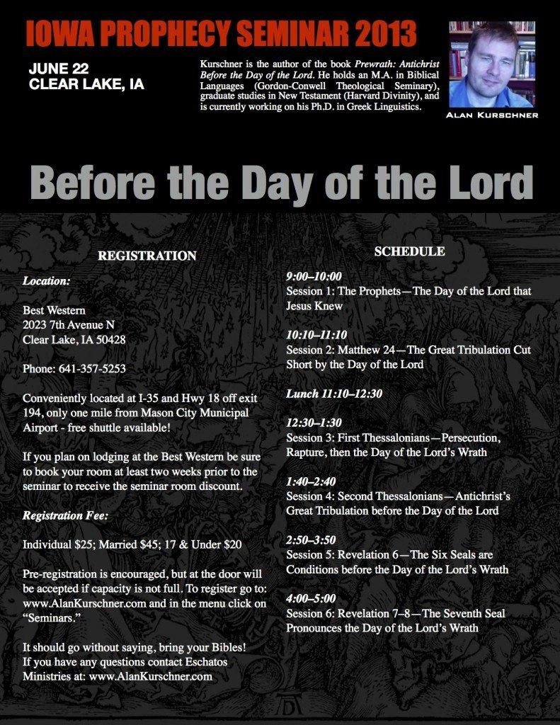 Iowa Prophecy Seminar 2013