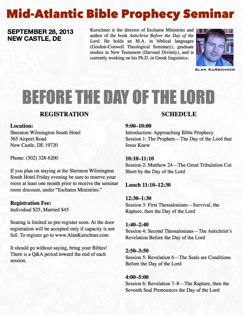 Mid-Atlantic Prophecy Prophecy Seminar : Conference 2013 copy