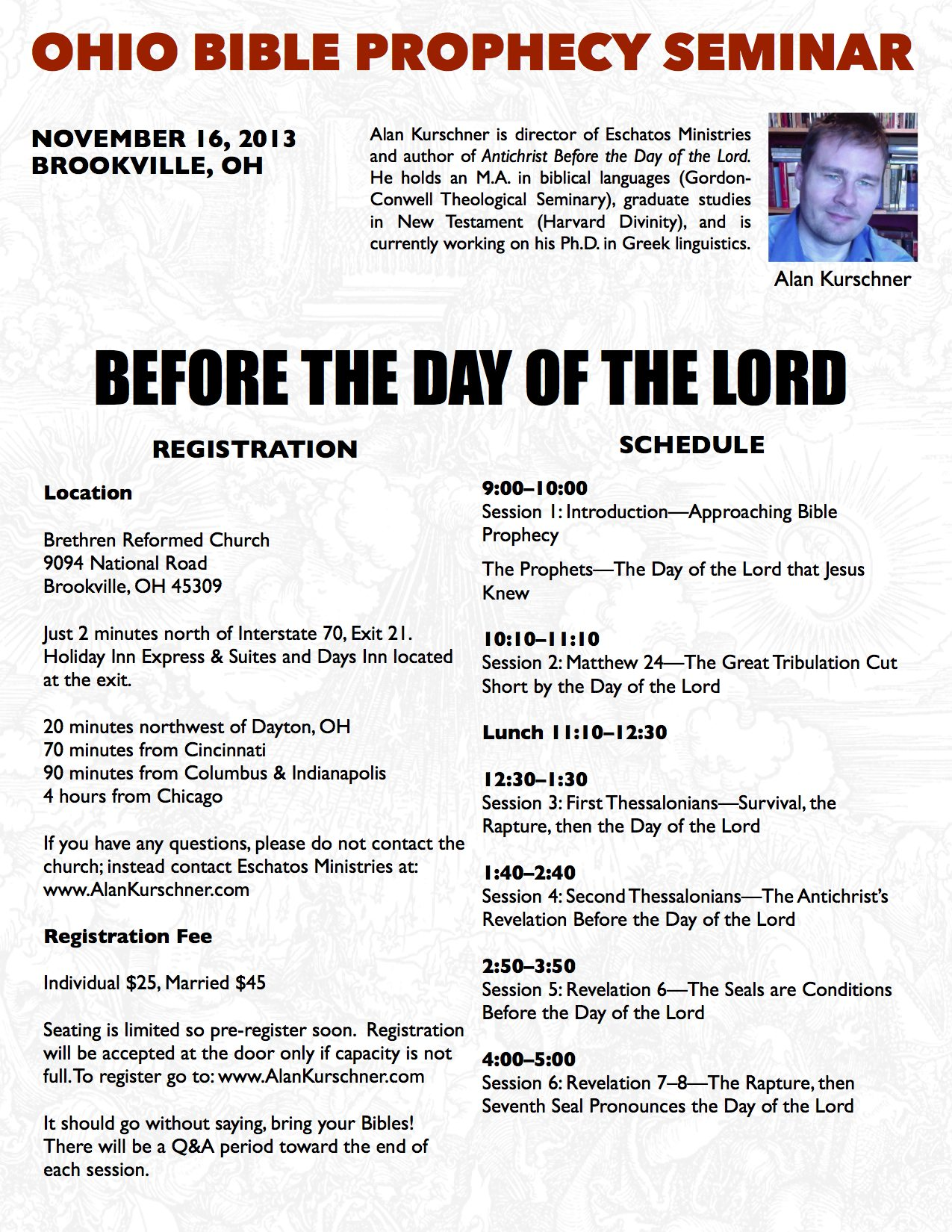 Ohio Bible Prophecy Seminar 2013