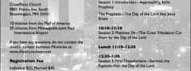MINNESOTA BIBLE PROPHECY SEMINAR – June 28, 2014