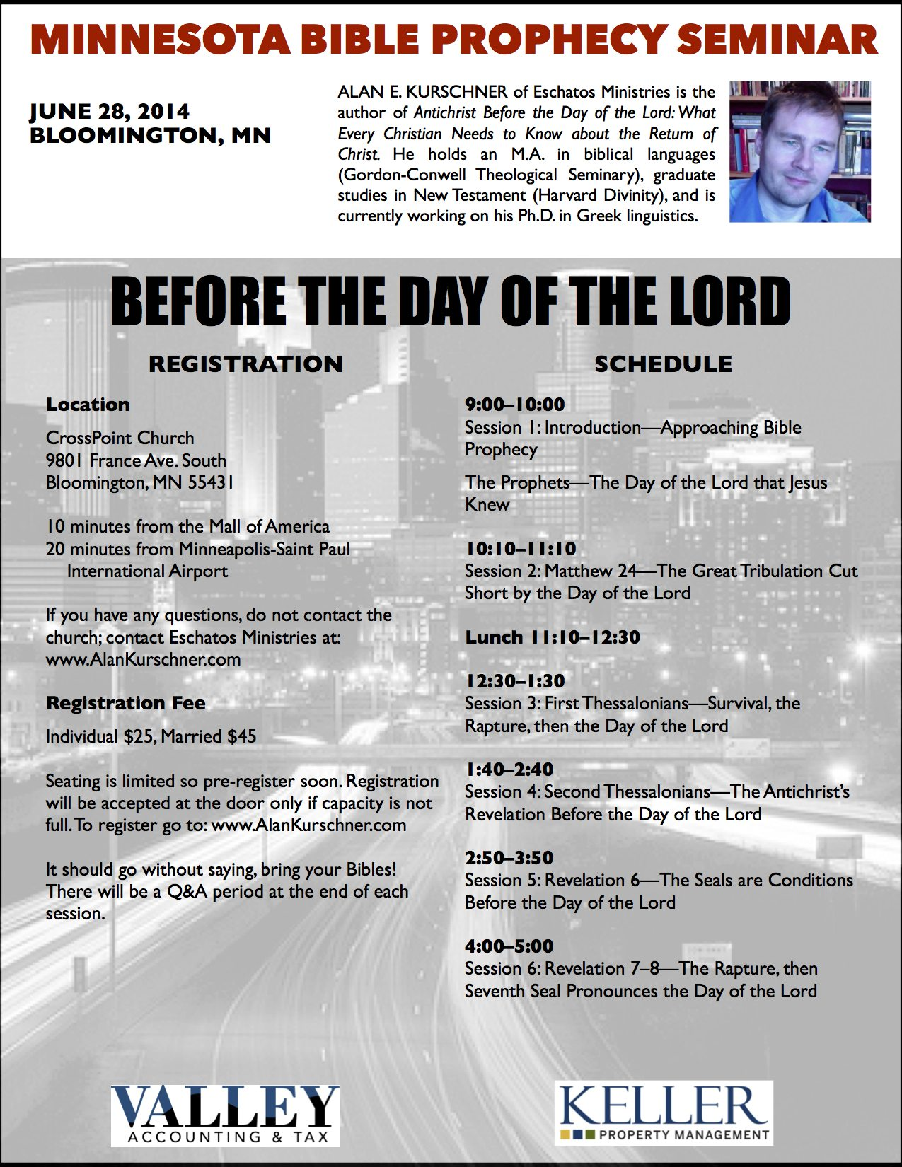 MINNESOTA BIBLE PROPHECY SEMINAR – June 28, 2014