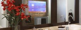 """Sign Me Up for the 2015 Orlando Prophecy Conference! """"A television that is displayed into the mirror in every bathroom!"""""""