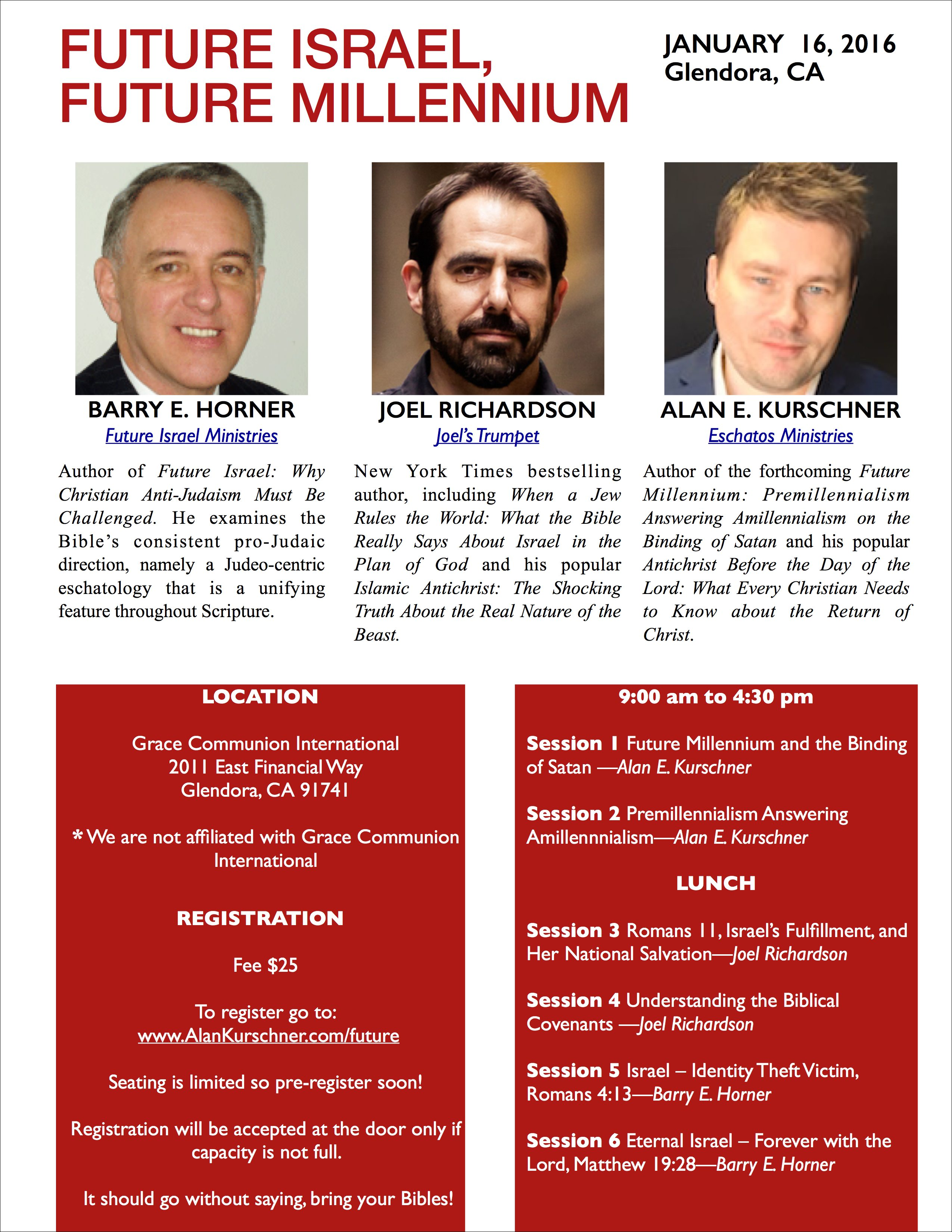 California Bible Prophecy Conference | Future Israel, Future Millennium